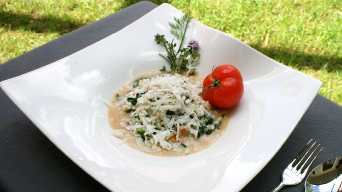 Spalter Bier-Spinat-Risotto