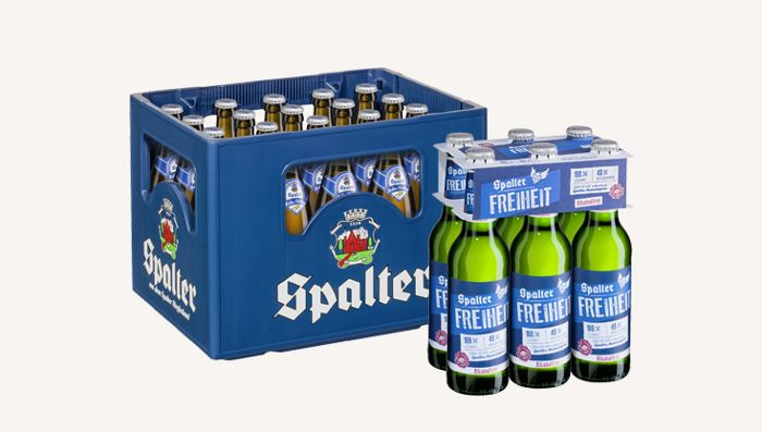 Spalter Bierkästen und Sixpacks