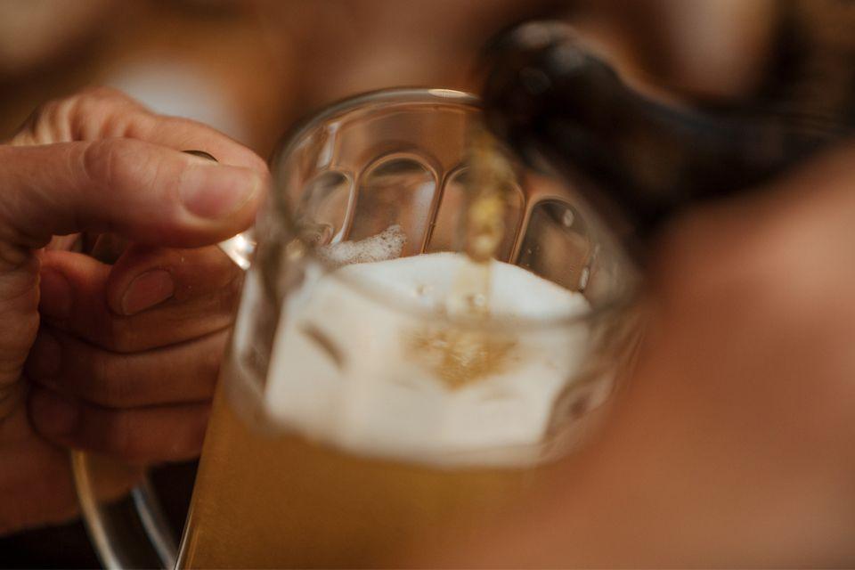 Die Sudpfanne aus Kupfer dient heute noch zum Kochen der Bierwürze. In ihr kommt der wichtigste Rohstoff ins Bier der Spalter Aromahopfen.