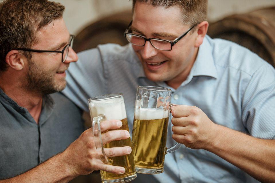 Bierverkostung: Nach der Führung durch die Brauerei können verschiedene Biere verkostet werden.